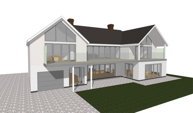 3D design of a new build house in East Preston, West Sussex